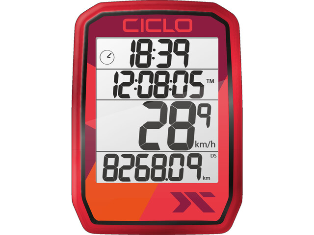 Ciclosport Protos 105 Cykelcomputer, rød